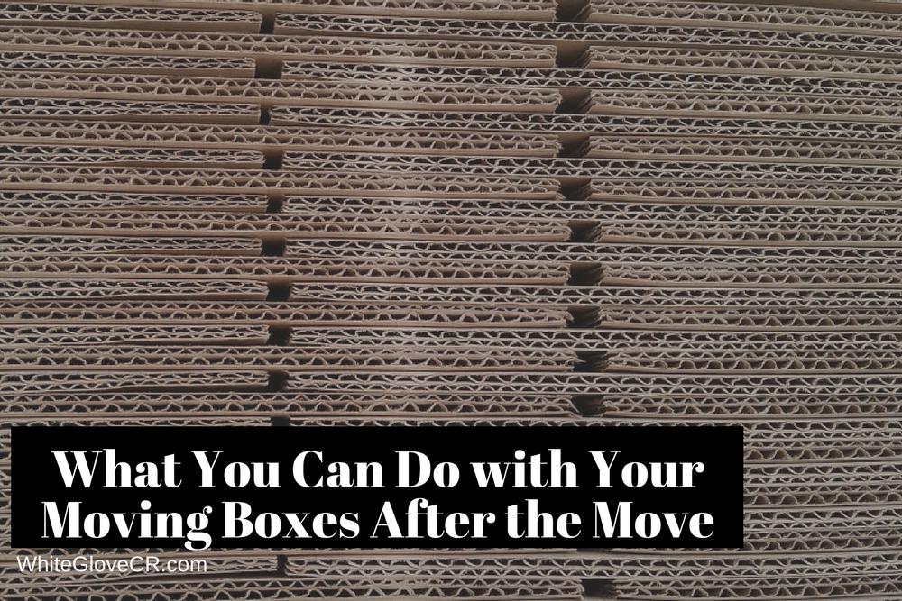 What You Can Do with Your Moving Boxes After the Move