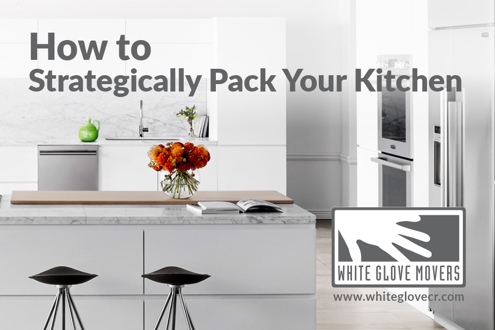 How to strategically pack your kitchen