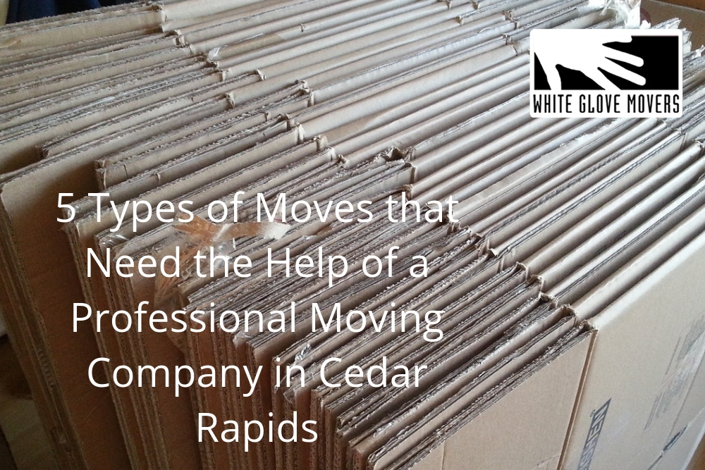 5 Types of Moves that Need the Help of a Professional Moving Company in Cedar Rapids